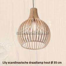 Eettafel Hanglamp Hout Roestpatroon En Massief Hout Led Hanglamp