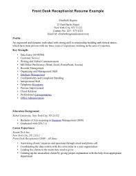 Medical Front Desk Resume 17 Receptionist Nardellidesign Com