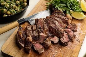 rib eye steak and potatoes for two