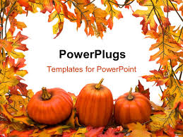 Powerpoint Template Halloween Background With A Pumpkin Smiling