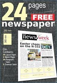 Newspaper Front Page Template Indesign Newspaper Template Free Download Unique Indesign Cs6 Magazine