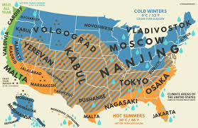 Climates Mapped How Us Climates Stack Up Against Climates Around The World
