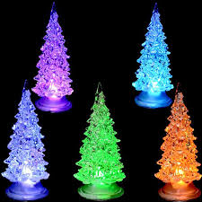 changing white pine small tree lamp light children xmas color changing led tree lighted