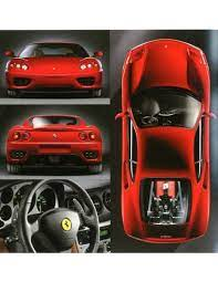 I was a little surprised at the price of model cars. 1999 Ferrari 360 Modena Brochure French 1542 99