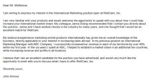 Referral Cover Letter Sample Cover Letter Mentioning A Referral By Someone Order Custom