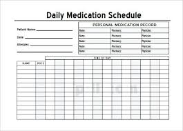 Daily Medication Log Template Sample Templates – Mklaw