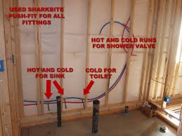 how to finish a basement bathroom with pex