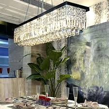 clear crystal chandelier dining room light fixtures polished chrome finish modern rectangle chandeliers x from antique