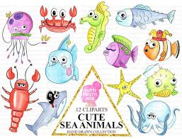 cute sea animals clipart.  Animals Image 0 With Cute Sea Animals Clipart