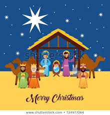 merry christmas jesus pictures. Merry Christmas Greetings With Jesus Born In Manger Joseph And Mary Wise King Characters Inside Pictures Shutterstock