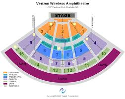 Verizon Wireless Amphitheatre Charlotte Nc Seating Chart
