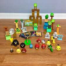ANGRY BIRDS TOYS LOT Figures Blocks Cards Playset