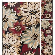 3 piece set beige red and black area rug laa rc willey furniture