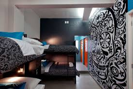 Skull Bedroom Wallpaper Unique Modern Airplane Themed Chidren Beds With Nice Wall Murals F