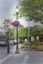 visco lights decorative streetlighting mainstreet oregoncity oregon streetscape flowerbasket