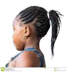 Vue De C T De Petite Fille Africaine Avec La Coiffure Afro Photo