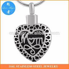 Scroll Heart Mom With Scroll Heart Cremation Keepsake Memorial Stainless Steel Urn Pendant Jewelry Buy Black Silver Mom Heart Cremation Keepsake Memorial