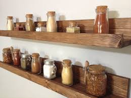 Rustic Wooden Spice Rack Ledge Shelf, Ledge Shelves, Wooden Rack, Rustic  Home Decor