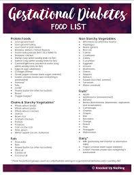 Gestational Diabetes Food Chart Pin On Yummy