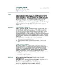Sample Resume Of Teachers Teacher Resumes Sample Resume For Teachers