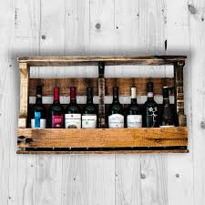 pallet wine rack. Amazon.com: Pallet Wine Rack, Liquor Wall Mounted, Made From Rustic Reclaimed Wood, Holds 8 Bottle - Natural Color: Home \u0026 Kitchen Rack .