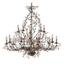 circeo 15 light deep rust ceiling mount chandelier