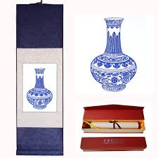 get ations blue and white paper cutting reel scrolls hanging scroll painting decorative painting folk crafts gifts to