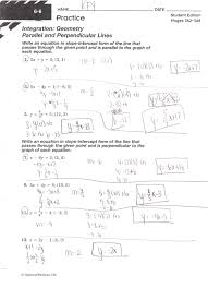 perpendicular lines worksheets parallel and perpendicualr practice writing equations