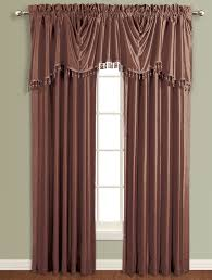anna lined faux silk curtains chcocolate