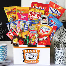 finals care package ideas the final exam energy kit with food
