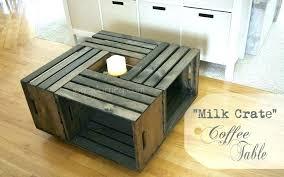 wooden milk crates wooden milk crate coffee tables building milk crate coffee table joy ideas making