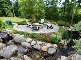Landscape Designs Of Indianapolis Patio Fire Pit Waterfall Koi Pond Landscape Design