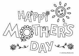 Happy Mother's Day Coloring Pages Coloring Page For Kids | Kids ...