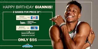 Finished portrait of milwaukee bucks khris middleton. Giannis Antetokounmpo Birthday Offer Milwaukee Bucks