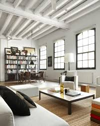 loft apartment furniture ideas. Architecture, White Sofa Bed With Pouf Living Room Loft Apartment Furniture Interior Decorating Ideas R