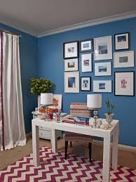 wall color for office. Home Office - Traditional Idea In Los Angeles With Blue Walls Wall Color For