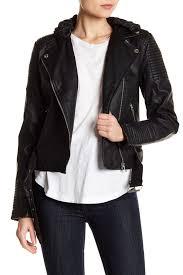 image of sebby faux leather moto jacket