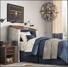 Bedroom Themed Bedroom Aviation Theme Boy Room Blue Bedroom Grey Wall Color  Blue Bedcover Black Chest Of Drawer Black Wooden Bedside Table Unique  Pendant ...