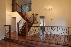 Stairs, Fascinating Indoor Railing Stair Railing Installation Black Long Indoor  Railing With Chandeliers: amazing