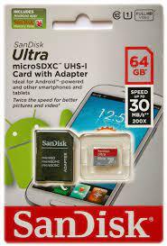 Thẻ nhớ Sandisk Micro SD Ultra 64GB 30Mb/s 200X giá rẻ, chính hãng