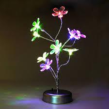 five petal flowers tree led night light diy modeling landscape lamp us 7 68 sold out