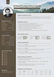Modern Resume Cover Letters Free Professional Modern Resume Cv Portfolio Page Cover Letter