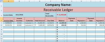 Download Accounts Receivable Excel Template Accounting
