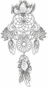 Animal Coloring Pages Dream Catchers Dream Catcher Tattoo By
