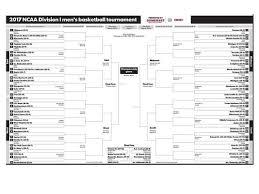 Bracket For Ncaa Basketball Tournament Printable Updated 2017 Ncaa Basketball Tournament Bracket
