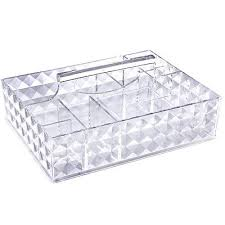 2 of 9 lifewit makeup organizer acrylic cosmetic storage lipstick holder with handle