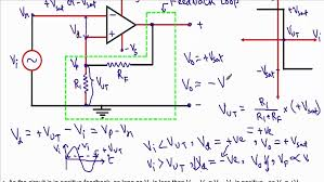 amplifier large size op amp positive feedback upper and lower threshold voltage hysteresis bass