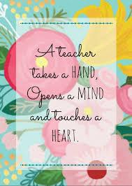 Teachers Day Beautiful Quotes Best of Teacher Appreciation Free Printables Pinterest Teacher