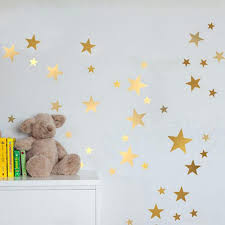 rose gold star wall art