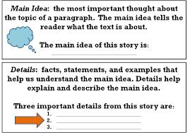 Main Idea And Details Lessons Tes Teach